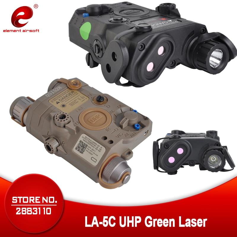 Airsoft Element Softair Flashlight EX419 LA 5C PEQ UHP Tactical Laser Flashlight Hunting Green Light Military