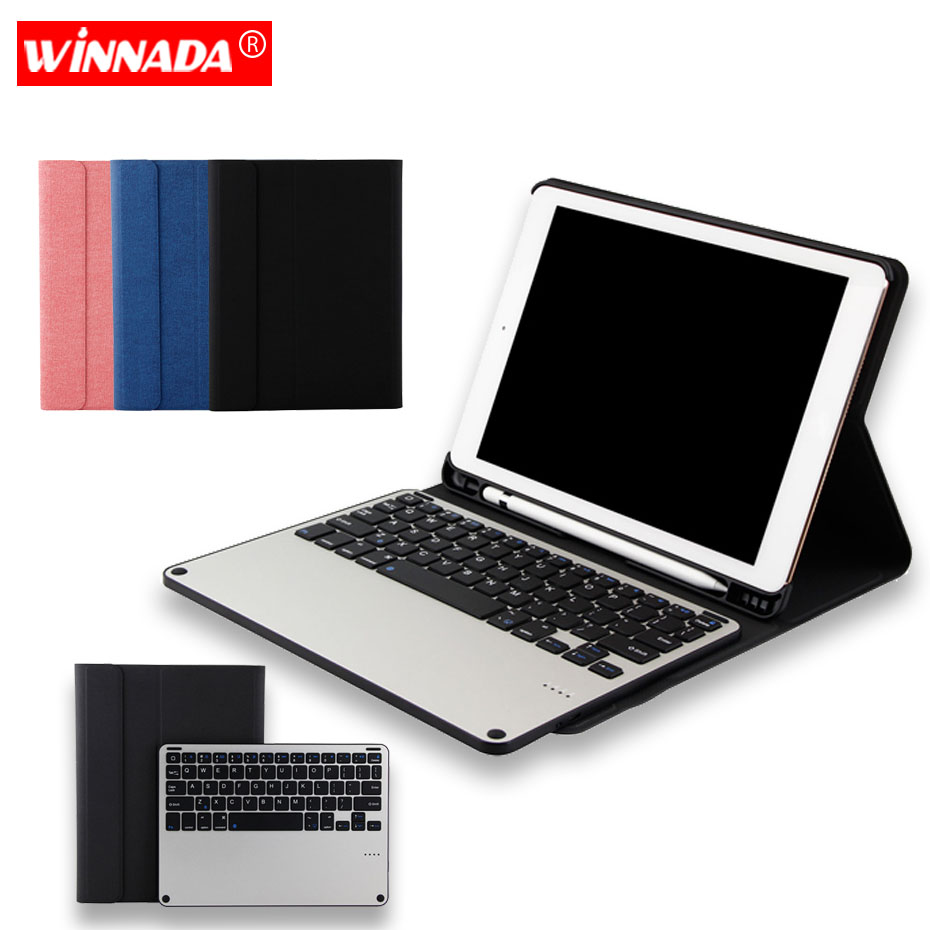 9e43588af41 For iPad 2018 case Bluetooth Keyboard full body wove pattern PU Leather  Tablet cover For air 1 2 2017 2018 pro 9.7 inch case - aliexpress.com -  imall.com