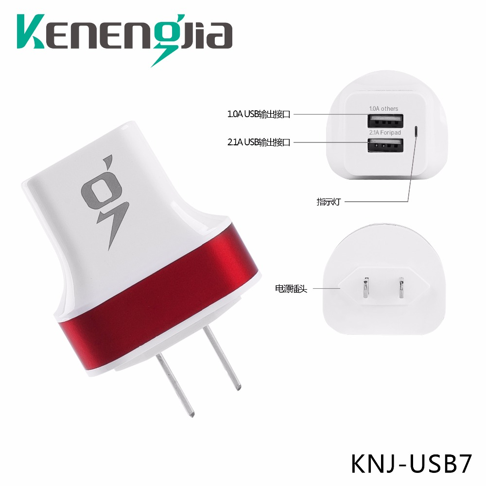 Mobile Phone Charger 2 USB Ports  2.1A and 10A USA Plug Fast Charging Travel Wall Charge 3 Adapter for IOS Android Smartphone Ta lifesmart desktop 5 usb ports fast charger adapter