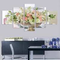No Frame Purple Butterfly Wall Pictures For Living Room Modular Picture Paintings Wall Art Home