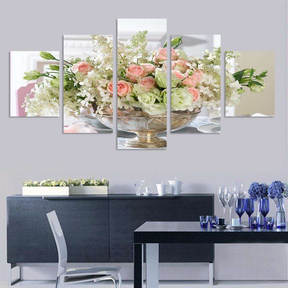 (Geen frame) paarse vlinder muur foto's voor de woonkamer modulaire - Huisdecoratie