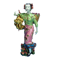 Antique Imitation Collectibles Sculpture Arts Ceramic Figurine Chinese Beauty Statue Morvel Porcelain Statues Free Shipping