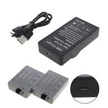 OOTDTY cargador de batería USB para Canon, LP E5, EOS, 1000D, 450D, 500D, Kiss F, Kiss, X2, Rebel, Xsi
