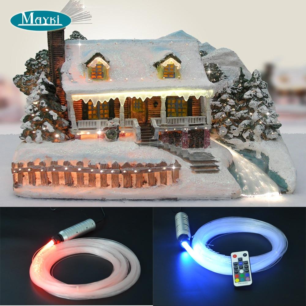 Small fiber optic christmas with 3 kinds model star fiber 5000h 12V DC 6W mini Cree LED light engine 12v 24v 7w mini round fiber optic led projector generator light engine
