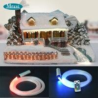 Small Fiber Optic Christmas With 3 Kinds Model Star Fiber 5000h 12V DC 6W Mini Cree