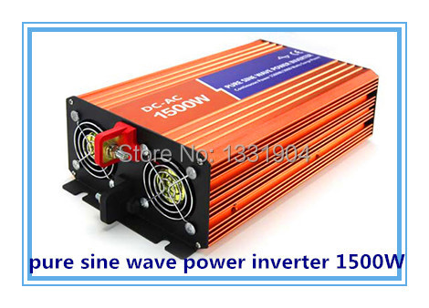 High quality 1500W Pure sine wave inverter 110/220V AC 12/24VDC, PV Solar Inverter, Power inverter, Car Inverter Converter high quality 5000w peak 10000w pure sine wave inverter 12 24 48v dc to 110 220v ac pv solar inverter
