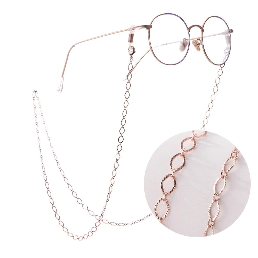 SKYRIM Hollow Rhombic Geometrical Lanyards For Glasses Anti-slip Metal Reading Eyeglass Sunglasses Chain Women Neck Strap Rope