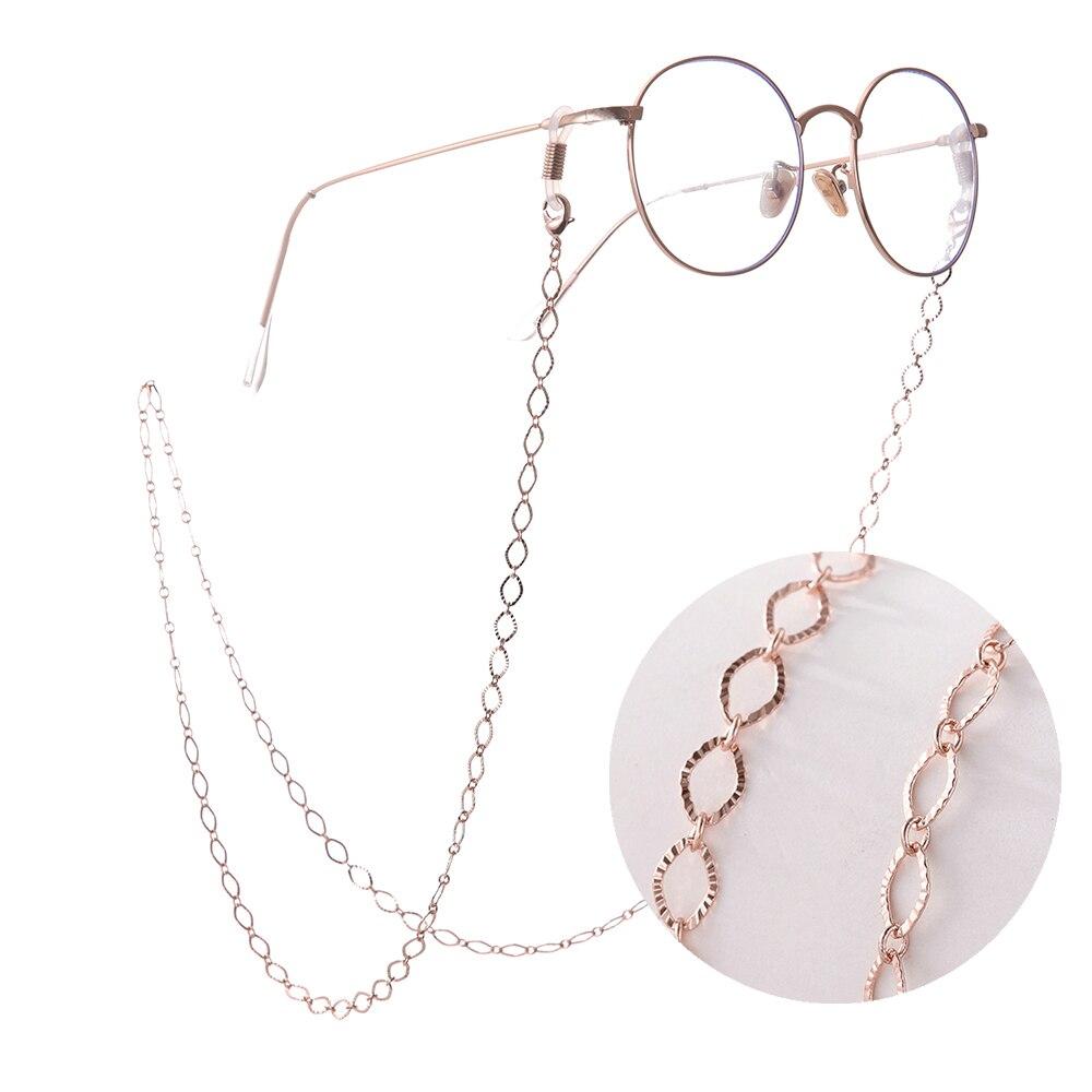 SKYRIM полые ромбические геометрические ремешки для очков противоскользящие металлические очки для чтения цепочка для солнцезащитных очков женский шейный ремешок веревка|Аксессуары для очков| | - AliExpress