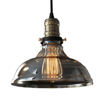 Vintage Pendant Lights Retro Glass Hanging lamp Loft Luminaire Kitchen Dining Bedroom Pendant Lamp E27 Lampholder Home Lighting