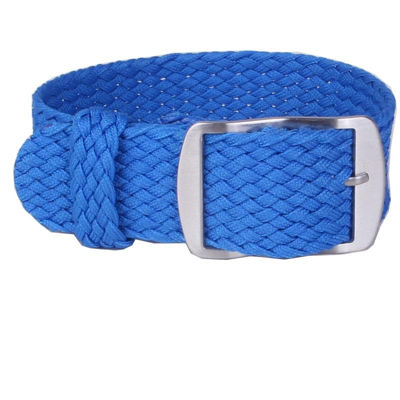 1 PCS / Wholesale Fashion Nylon Woven Perlon Straps Blue Colors 20mm 22mm