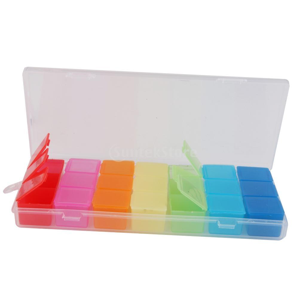 ᐅ7 colores píldora medicina joyería caja de almacenamiento de ...