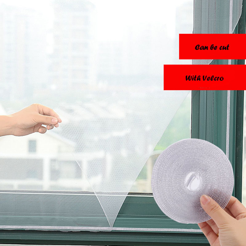 2019 Hot Sale Insect Screen Window Netting Kit Fly Bug Wasp Mosquito Curtain Mesh Net Cover Insect Window Net and  Tape