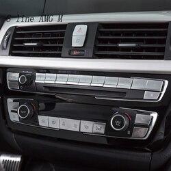 Car styling kontroli klimatyzacja panel CD osłona przycisku Sitckers dla BMW 3 4 serii 3GT F30 F32 F34 wnętrze Auto akcesoria|Naklejki samochodowe|   -
