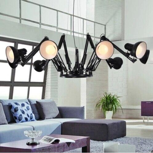 Opknoping lampen voor eetkamer moderne Spider mechanische arm led ...