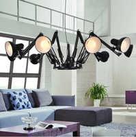 hanging lamps for dining room modern Spider mechanical arm led droplight iron design lamp pendant lighting for restaurants bar