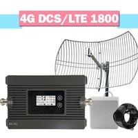 Смарт 4G LTE DCS 1800 МГц Усилитель мобильного сигнала 80dB усиление высокой мощности сетки антенны повторитель lcd AGC 4G сотовый телефон усилитель