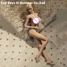Full set 1/6 PLLB2014-S06 Super Flexible Female Seamless Body with Head Tan Color  Big Breast Suntan color for Collection
