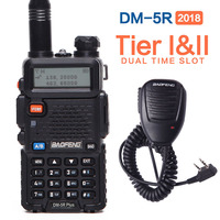 2018 Original Baofeng DM 5R Plus Dual Time Slot Walkie Talkie Tier2 Digital DMR Two Way