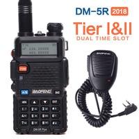 2019 original Baofeng DM 5R plus dual time slot Walkie Talkie Tier2 Digital DMR Two way radio DM 5R plus+ a MIC speaker