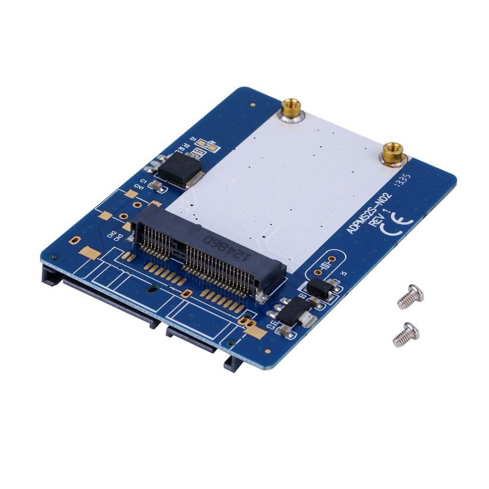 NEW 2.5-inch Blue High-capacity high-power Serial mSATA to SATA Adapter Newest