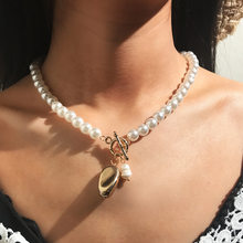 2019 Fashion Hot beads Pearl Shell Necklace Bracelet Set 3 Different Design Gold Color Charm Handmade Jewelry Necklace Set(China)