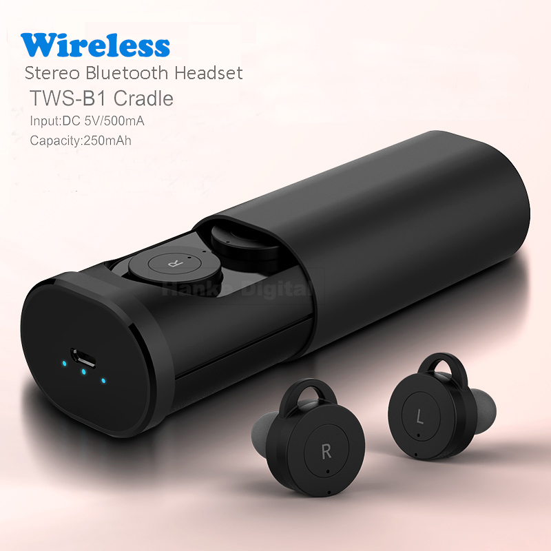 Mini True Wireless TWS Bluetooth Earbuds Twins Stereo Headset V4.1 EDR In-Ear With Microphone for iPhone 7 IOS & Android