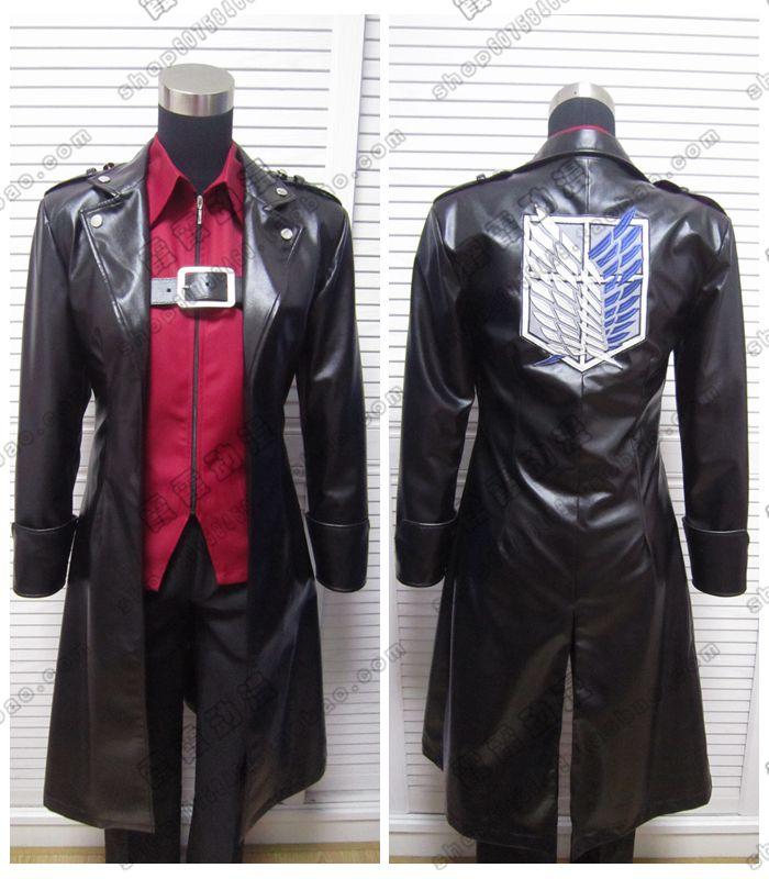 Anime attaque sur Titan Shingeki no Kyojin Levi Eren liberté ailes veste en cuir cosplay Trench livraison gratuite