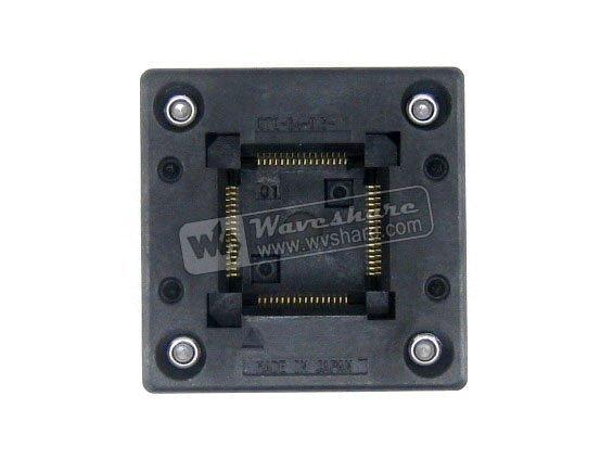 QFP64 TQFP64 LQFP64 PQFP64 OTQ 64 0.5 01 Enplas QFP IC Test Burn In Socket 0.5mm Pitch