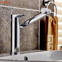 BAKALA All copper Bathroom faucet 360 degree rotation wash basin counter basin Hot and cold mixer taps LT 605/LT 606