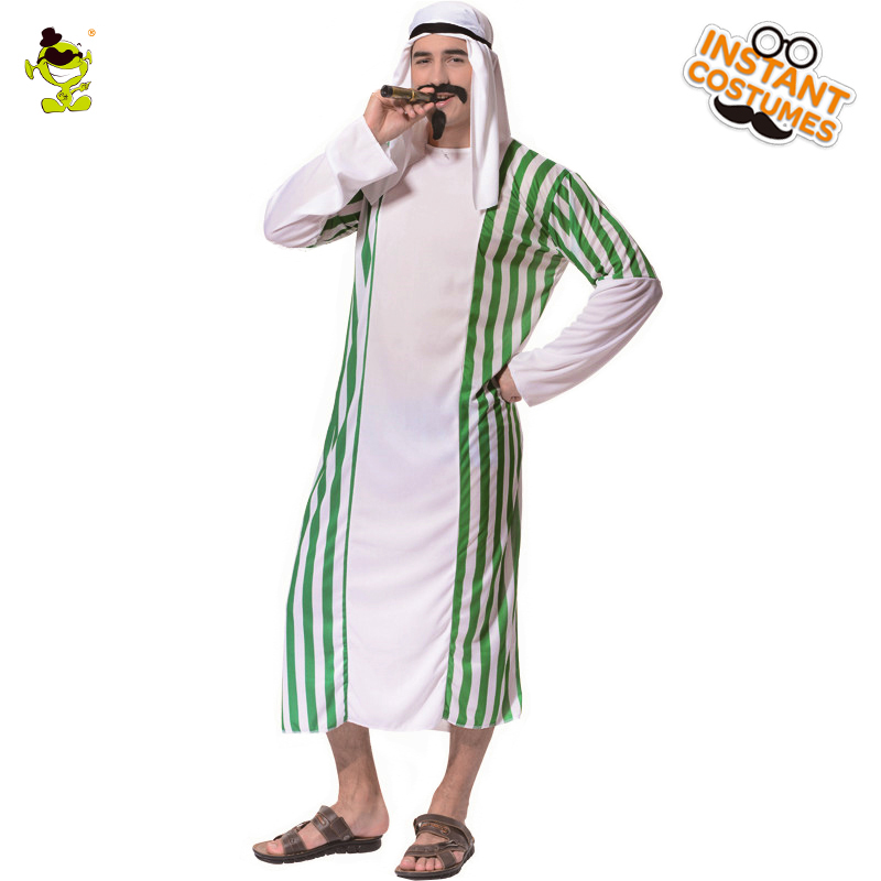 Men's Aesert Prince Robe Costume Fancy Dress Up Traditional Desert Prince Clothes For Carnival Party Cosplay Prince Costume