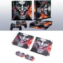 1set Joker Vinly Skin Sticker Clown Gamepad Stickers for Sony For PS4 For PlayStation 4 and 2 Controller Skins Wholesale(China)