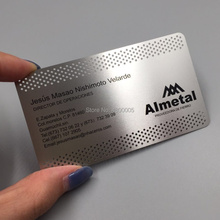 China Good Design Custom Logo Metal Business VIP Card/Anodized Aluminum Business Card Blank