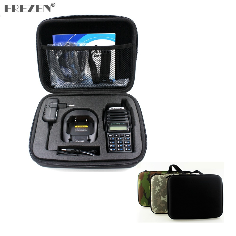 Portable Radio Case Walkie Talkie Hand Bag For BAOFENG UV-82 UV-8D Motorola GP328 Launched Hunting Case Black And Camouflage