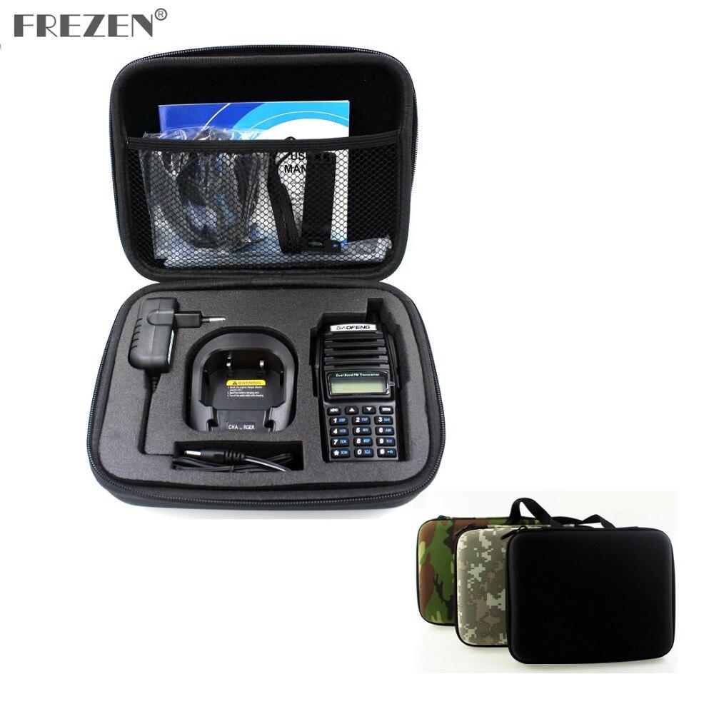 Tragbare Radio Fall Walkie Talkie Hand Tasche Für BAOFENG UV-82 UV-8D Motorola GP328 Gestartet Jagd Fall Schwarz Und Camouflage