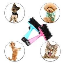 Щетка для ухода за домашними животными, расческа для собак, самоочищающаяся щетка для маленьких больших собак, кошек, коротких длинных волос