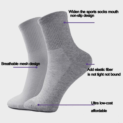 5 Pairs Men's Fashion Business Casual Warm Winter Soft Cotton Breathable Socks