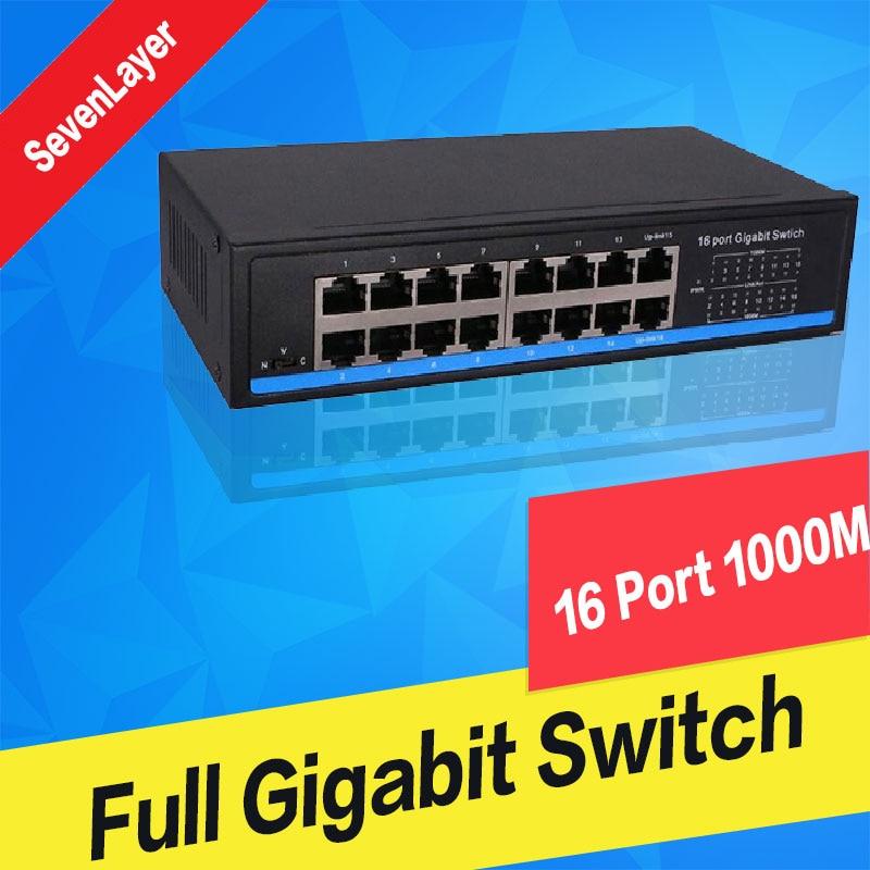16 Port Gigabit Switch bps Full-Duplex Gigabit Ethernet Switches 10/100/1000M16 Port Gigabit Switch bps Full-Duplex Gigabit Ethernet Switches 10/100/1000M