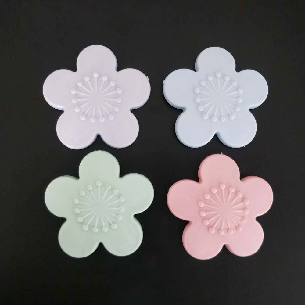1pcs Practical Self Adhesive Silicone Door Knob Crash Pad Wall Protectors Cherry Blossoms Shape Wall Stickers For Kids Rooms Street Price