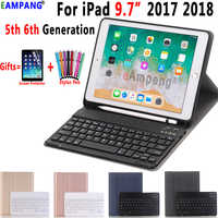 For iPad 2018 Keyboard Case with Pencil Holder for iPad 9.7 2017 2018 5th 6th Generation Bluetooth Russian Spanish Keyboard Case