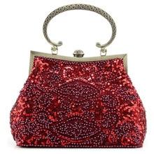 2017 neuen Taschen Luxus Perlen Clutch Handmade Vintage Telefon Handtasche Bankett Hochzeit Handtaschen 2 Farben Availble