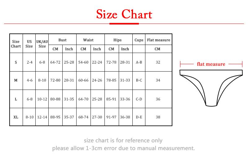 32-34-36size chart