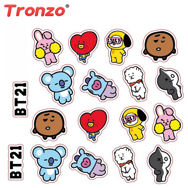 Tronzo Bts Bt21 Army Bangtan Boys Diy Chimmy Stickers For Notebook