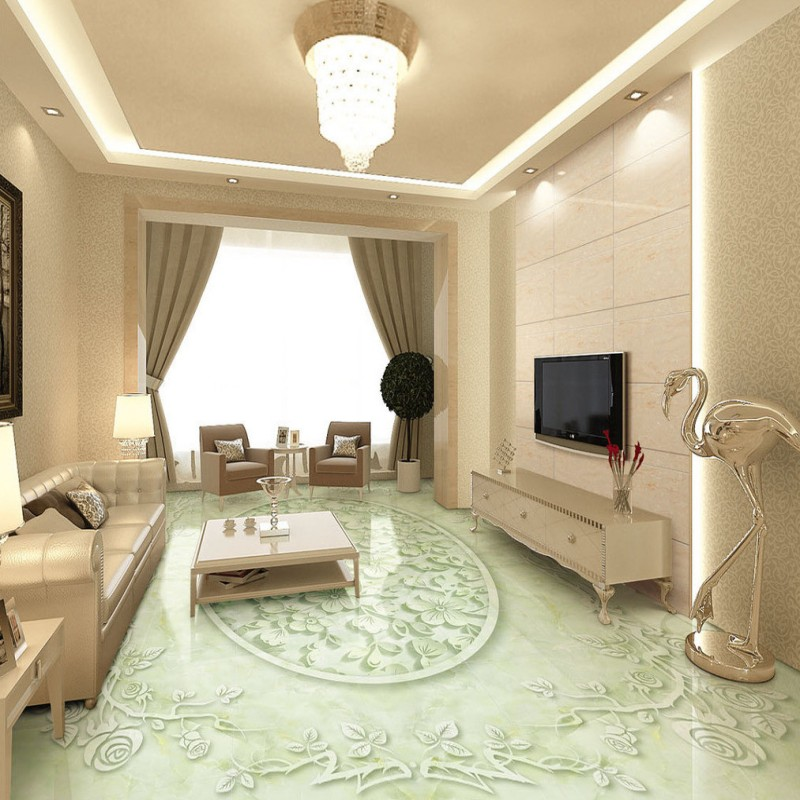 Free shipping photo Marble plum relief 3D floor living room bedroom flooring chinese style wear non-slip mural wallpaper free shipping sea world dolphin 3d floor thickened wear non slip bedroom living room kitchen flooring wallpaper mural
