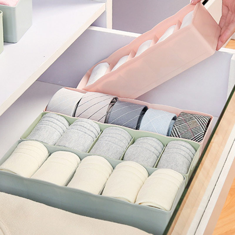 Bathroom:  Creative Plastic Underwear Storage Box Organizer And Home Bathroom Skin Care Bedroom Five-Bar Drawer Socks Underwear Storage Box - Martin's & Co