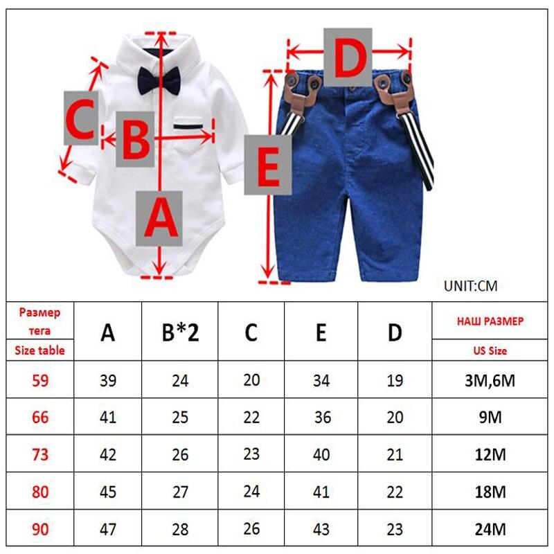 Boy Baby Clothes Set Autumn kid's Glentmen Bodysuit with Straps Trousers Newborn Clothing Infant Boys Party Clothes Suit
