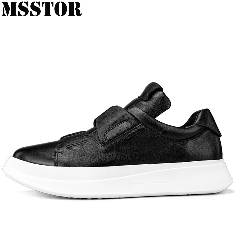 MSSTOR Women Mens Running Shoes Outdoor Athletic Woman Brand Sports Run Genuine Leather Womens Sneakers 2018 Sport Shoes For Men msstor women running shoes summer breathable mesh sport shoes for woman brand outdoor athletic sports run womens sneakers 35 40