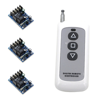 High Quality DC 12V 24V 36V 48V 30A 1CH RF Wireless Remote Control 3pcs Receivers 1pcs