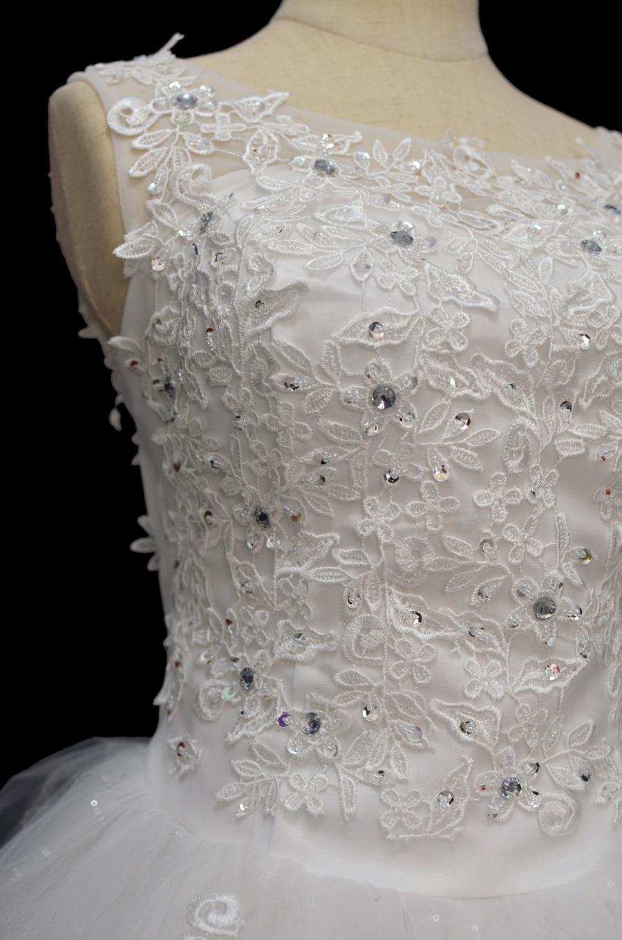 Coreeană Lace Up Ball rochie de calitate rochii de mireasa 2018 - Rochii de mireasa - Fotografie 4