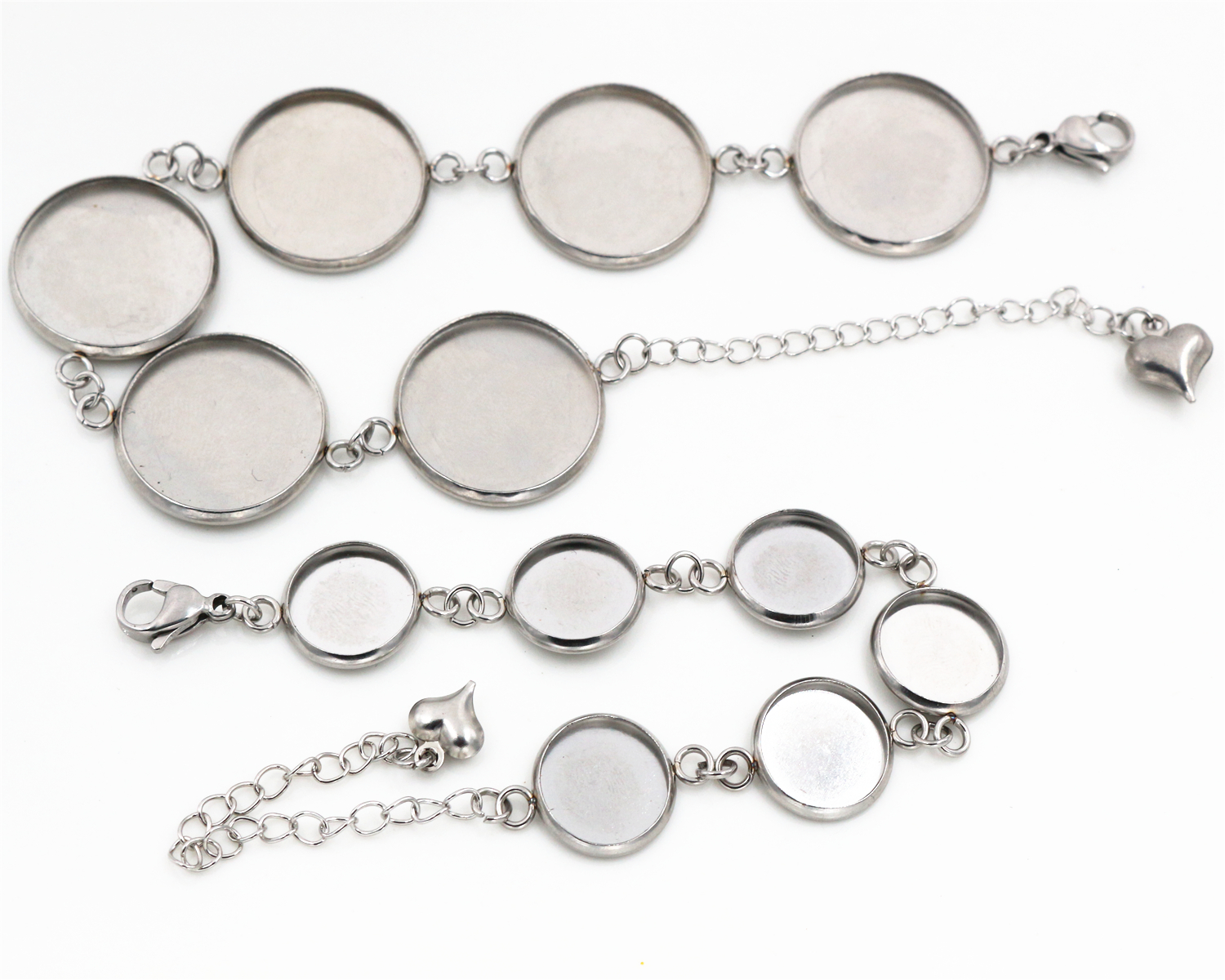 High Quality 12mm 14mm 16mm 18mm 20mm 316 stainless steel Bangle Base Bracelet Blank Findings Tray Bezel Setting Cabochon Cameo mibrow 10pcs lot stainless steel 8 10 12 14 16 18 20mm blank french lever earring tray cabochon setting cameo base jewelry