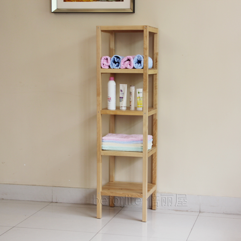 Clapboard wood shelving storage rack shelf bathroom shelf IKEA ...